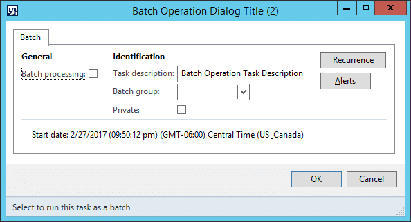 Creating a simple batch operation