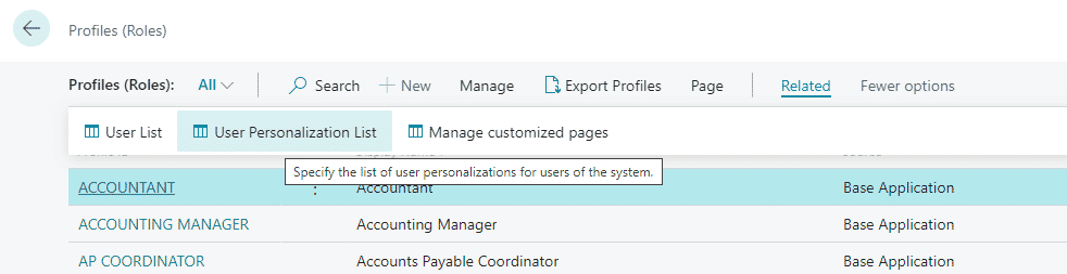 assign a profile to your users
